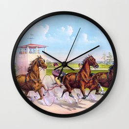 Louis Maurer -Trotting for a great stake - Digital Remastered Edition Wall Clock