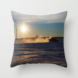 Pick-up Truck Plowing Snow 1 Throw Pillow