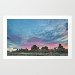 Pastel Rainbow Sunset : Tronna Pinnacles Art Print