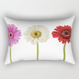 Three gerberas Rectangular Pillow