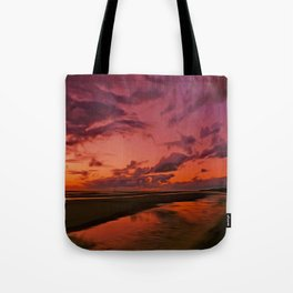 The Beach at sunset Tote Bag