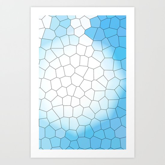 IRREGULAR LIGHT BLUE Art Print