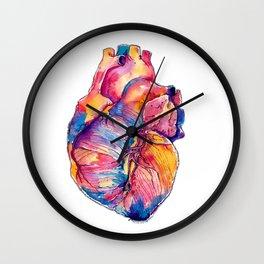 Heart Is On Fire Wall Clock
