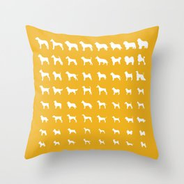 All Dogs (Gold) Throw Pillow