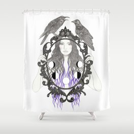 Crow Moon Shower Curtain