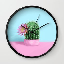 Cactus Flower Serie 1 Wall Clock