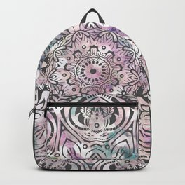 Dreams Mandala - Magical Purple on Gray Backpack