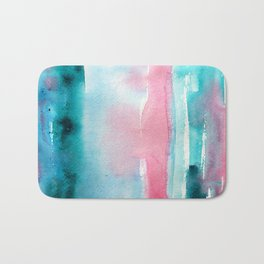 Turquoise love Bath Mat