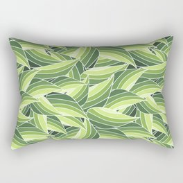 GREENERY LEAVES W  (abstract flowers nature) Rectangular Pillow