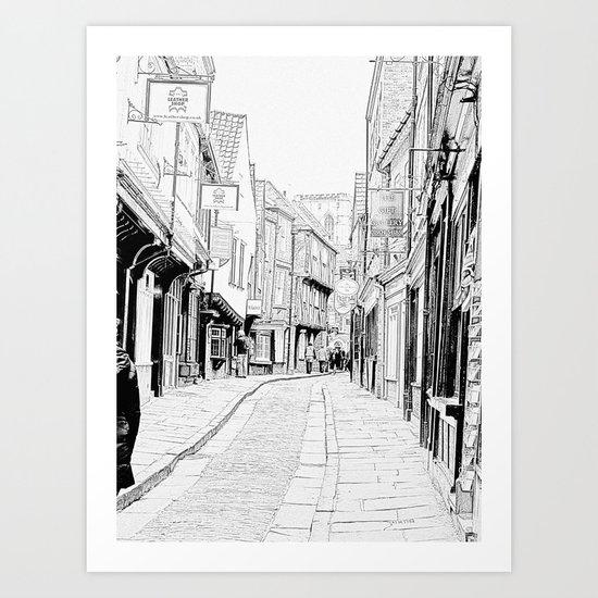 The Shambles Art Print