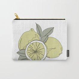 Botanical fruit illustration line drawing - Lemons Carry-All Pouch