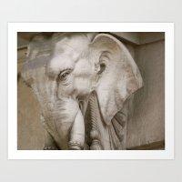 Elephant Finial in Madrid Art Print