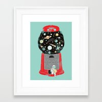 universe Framed Art Prints featuring My childhood universe by I Love Doodle