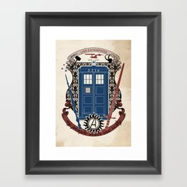 crest of the knight of fandom (a LOT of fandoms actually ;)  Framed Art Print