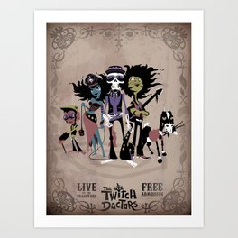 The Twitch Doctors - Gig Poster Art Print