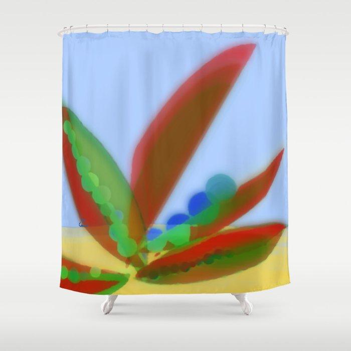 GMO Bean Pods  Pat. Pending Shower Curtain