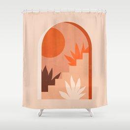 Abstraction_SUN_Bohemian_ARCHITECTURE_001AA Shower Curtain