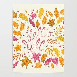 Hello Fall Poster