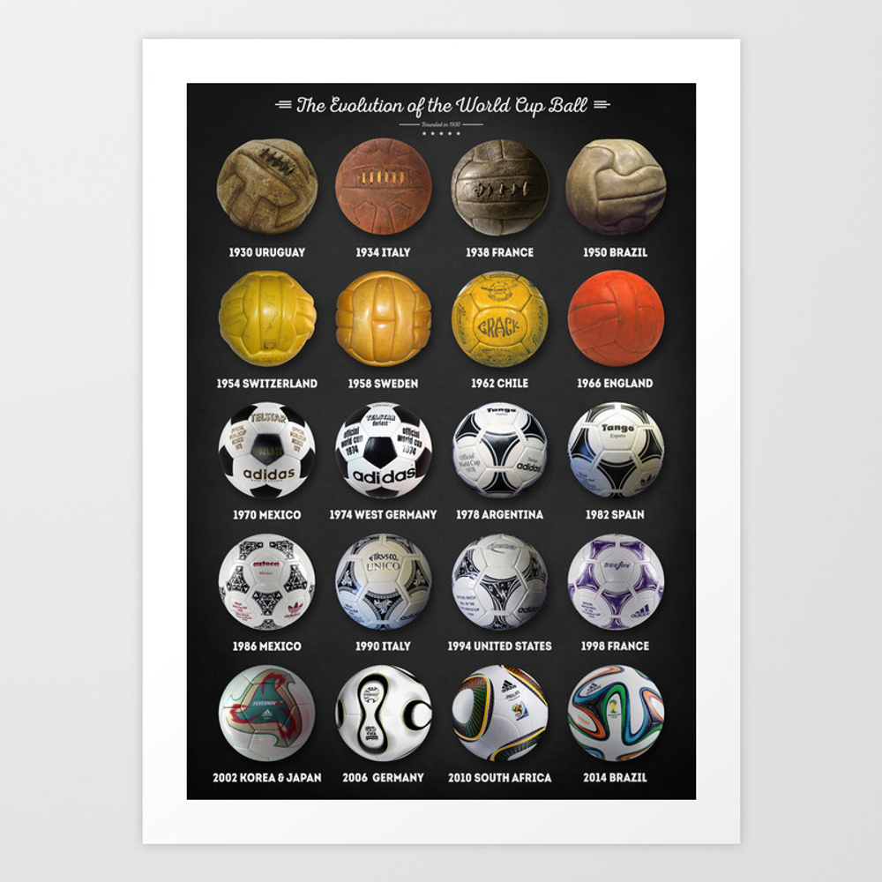 The World Cup Balls Art Print by Taylansoyturk PRN3962179