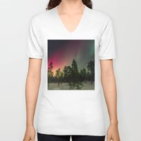 northern lights V-neck T-shirts featuring Northern Lights  by Limitless Design