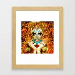 Spontaneous Glitz Glambustion Fx Framed Art Print