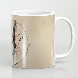 Anatomy of the Peace Sign Coffee Mug