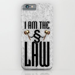 I am the law / 3D render of section sign holding judges gavels iPhone Case