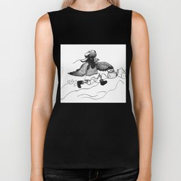 A Raven with a strict wife Biker Tank