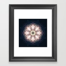 New year colorful sparkly fireworks mandala Framed Art Print