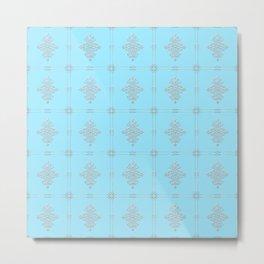 Encore Deco (light blue-silver) Metal Print