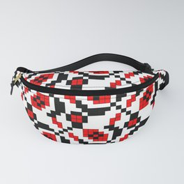 Traditional Romanian folk art knitted embroidery pattern Fanny Pack
