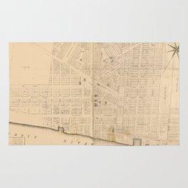 Vintage Map of Detroit MI (1835)` Rug