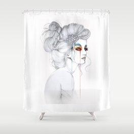 The Girl // Fashion Illustration Shower Curtain