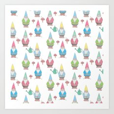 Garden Gnomes Art Print