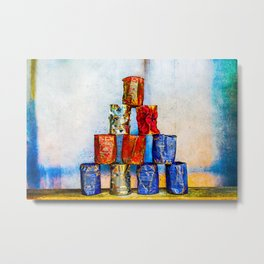 Soup Cans - After The Lunch Metal Print