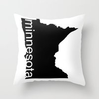 minnesota Throw Pillows featuring Minnesota by Isabel Moreno-Garcia