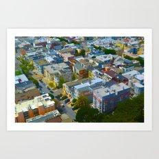 San Francisco Bird's Eye Art Print