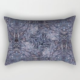 Feathers and bones-the blues Rectangular Pillow