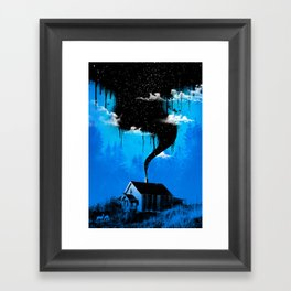 Black Smoke Framed Art Print
