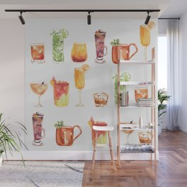 Happy Hour Drinks Wall Mural