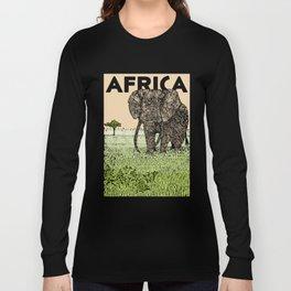 AFRICA (African Elephant) Long Sleeve T-shirt