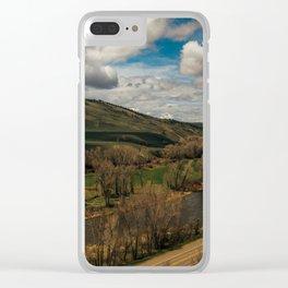Colorado River Runs Alongside Highway Art Print Clear iPhone Case