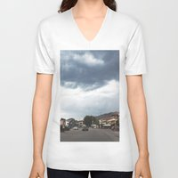 greece V-neck T-shirts featuring Greece by Pauline Gauer