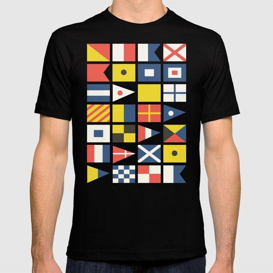 Geometric Nautical flag and pennant T-shirt