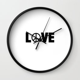 Hippie Love | Peace Hippie Sign Gift Idea Wall Clock