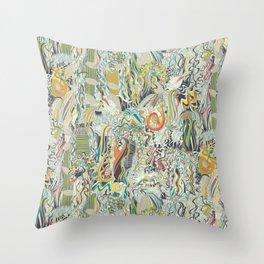 hairspray jungle Throw Pillow