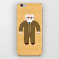 freud iPhone & iPod Skins featuring Sigmund Freud by Late Greats by Chen Reichert