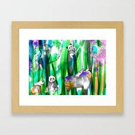 Jungle Green Framed Art Print