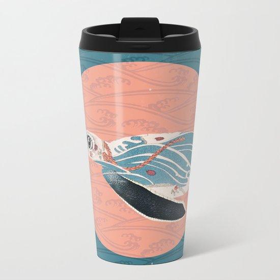 Sea Turtle Polka Metal Travel Mug