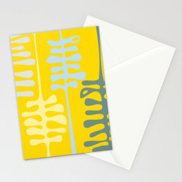 Abstract jungle - yellow Stationery Cards
